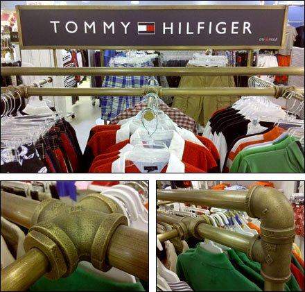 Tommy Hilfiger Brass Finish Fixture