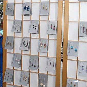 Shoji Screen Earring Display in Retail – Fixtures Close Up