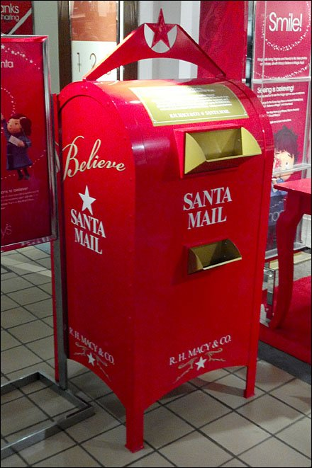 Macy S Santa Mailbox In Store Fixtures Close Up