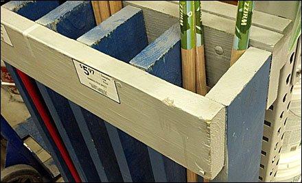 2x6 Broom Handle Rack Fixtures Close Up
