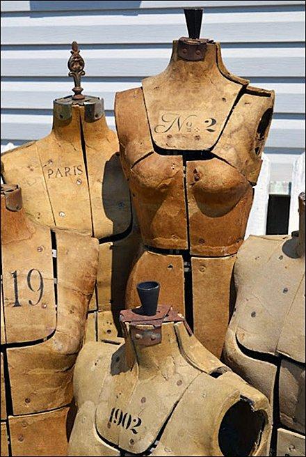 Vintage Parisian Dress Forms Fixtures Close Up