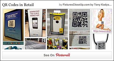 QR Codes in Retail Pinterest Board for FixturesCloseUp