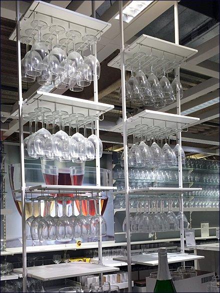 Ikea Ceiling Hung Glware Rack