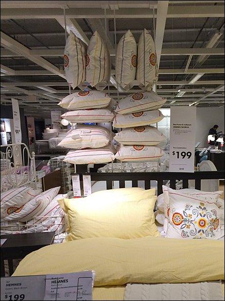 Ikea 174 Overhead Pillow Display Fixtures Close Up