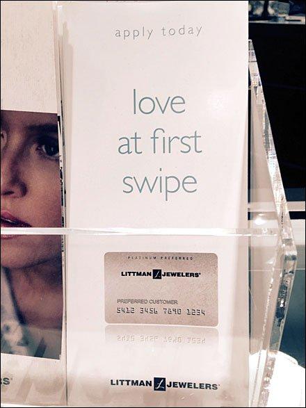 Littmans® Love At First Swipe Credit Card Display