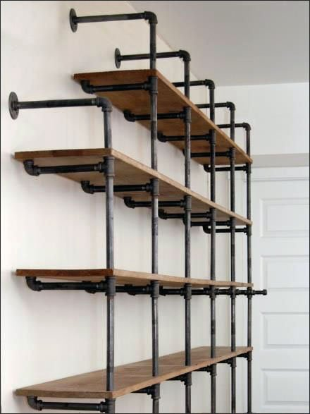 Do-It-Yourself Pipe Shelf Display CloseUp Main