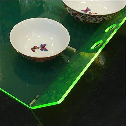Artsy Edge-Lit Acrylic Tableware ... & Artsy Edge-Lit Acrylic Tableware Tray at Macys® \u2013 Fixtures Close Up