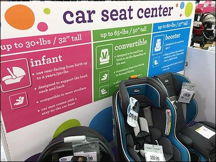Babies R Us Car Seat Center Color Coding Details