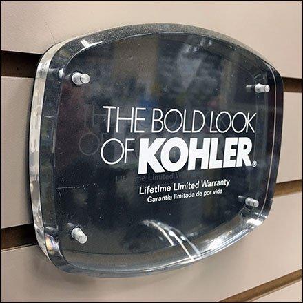 The Bold Look of Kohler Brands Showroom Slatwall – Fixtures Close Up