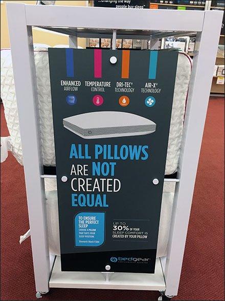 bedgear u00ae pillow power merchandising by endcap