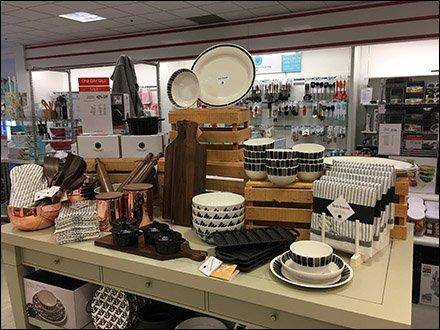 Heirloom Tableware Wood Crate Display Fixtures Close Up