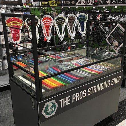 lacrosse pros store in store stringing shop fixtures close up. Black Bedroom Furniture Sets. Home Design Ideas