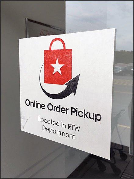 Macy S Online Order Pickup Navigation Sign Fixtures Close Up