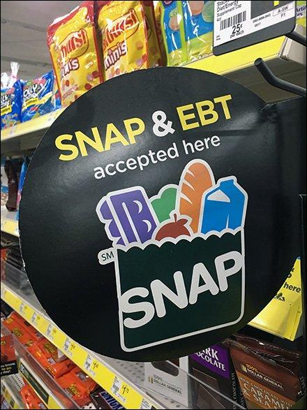 SNAP and EBT Card Shelf Edge Flag – Fixtures Close Up