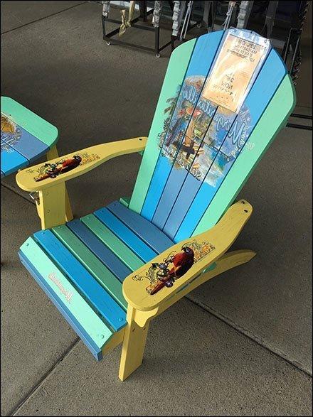 Margaritaville Adirondack Chair Rainbow Paint Job Fixtures Close Up
