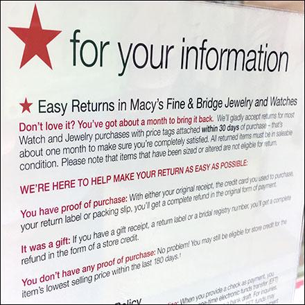 13+ Macys jewelry warranty policy info